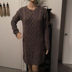 Moda International Dresses - 🍁FALL SALE 🍂 Taupe sweater dress